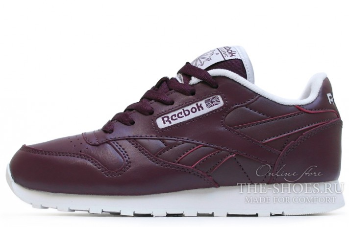 Кроссовки Reebok Classic Leather Red Grapes