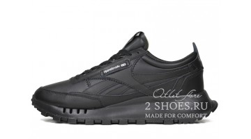 Кроссовки Мужские Reebok Classic Leather Legacy Black Triple