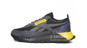 Кроссовки Мужские Reebok Classic Leather Legacy Grey Yellow