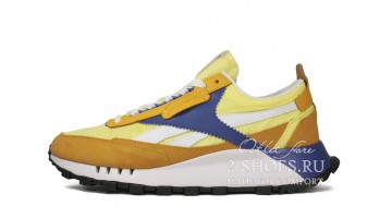 Кроссовки Мужские Reebok Classic Leather Legacy Yellow Blue