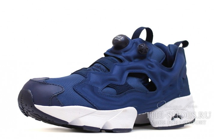 Reebok Insta pump Fury Navy Blue синие, фото 2