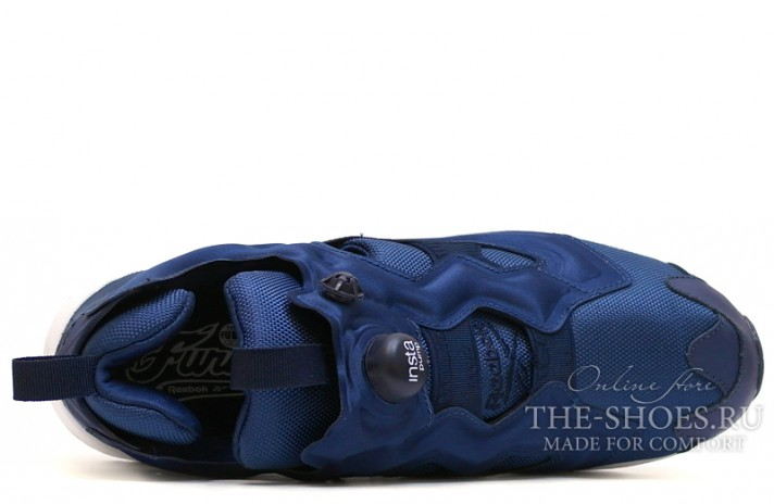 Reebok Insta pump Fury Navy Blue синие, фото 4