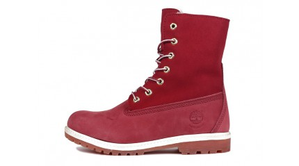 Timberland БОТИНКИ ЖЕНСКИЕ<br/> TIMBERLAND TEDDY FLEECE BURGUNDY RED