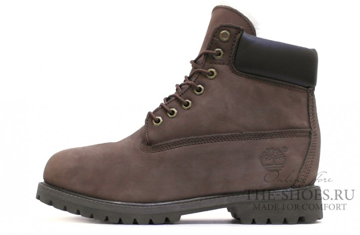 Timberland 6-inch winter shearling lined grizzly brown коричневые