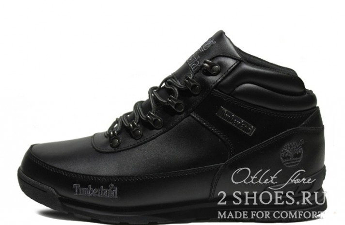 Timberland euro sprint Black Leather черные кожаные
