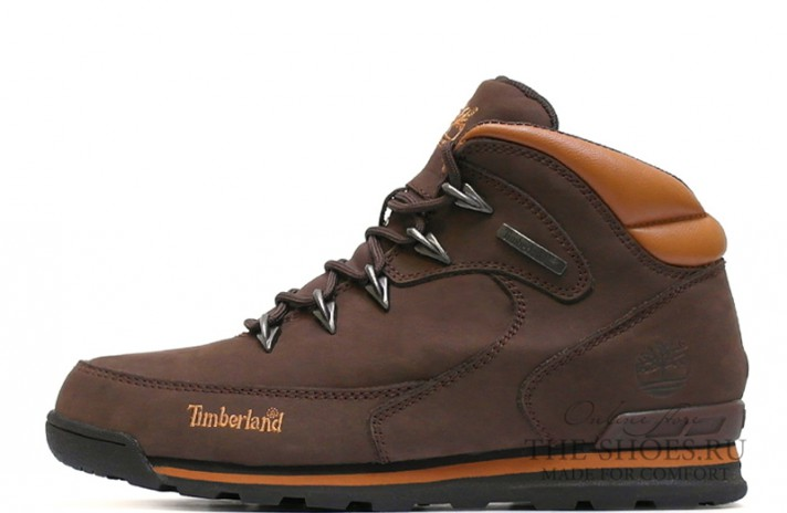 Timberland euro sprint dark brown коричневые