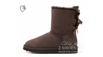 Угги женские Ugg Australia Bailey Bow Short II Chocolate