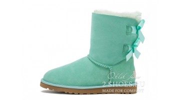Угги женские Ugg Australia Bailey Bow Short Aqua Mint