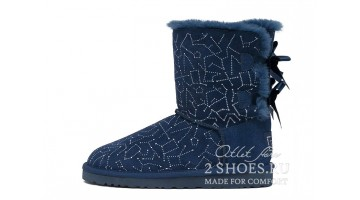Угги женские Ugg Australia Bailey Bow Short Const Navy