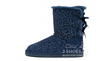 короткие с лентами Ugg Australia Bailey Bow Short Constellation Navy