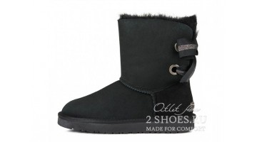 Угги женские Ugg Australia Bailey Bow Short Custom Blk