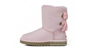 Угги женские Ugg Australia Bailey Bow Short Custom Pink