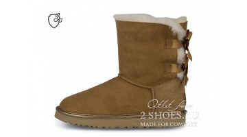 Угги женские Ugg Australia Bailey Bow Short II Chestnut