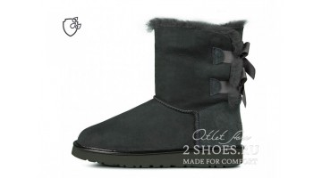 Угги женские Ugg Australia Bailey Bow Short II Dark Gray