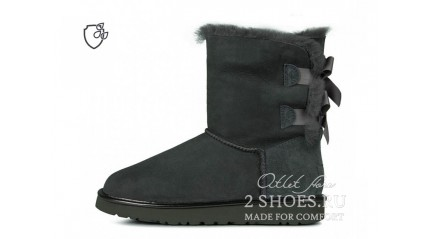 короткие с лентами Ugg Australia Bailey Bow Short II Dark Gray