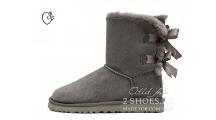короткие с лентами Ugg Australia Bailey Bow Short II Gray