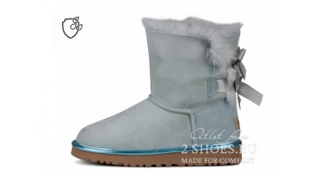 Угги женские Ugg Australia Bailey Bow Short II Sky Ice