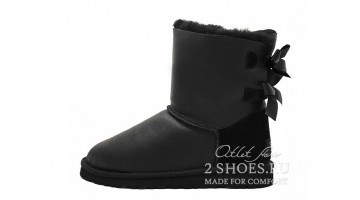 Угги женские Ugg Australia Bailey Bow Short Met Black
