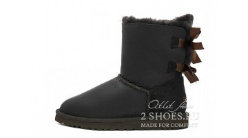 Угги женские Ugg Australia Bailey Bow Short Met Choco