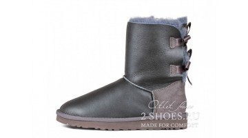 Угги женские Ugg Australia Bailey Bow Short Met Grey