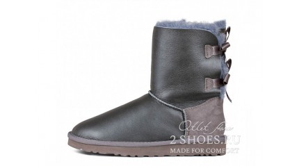 короткие с лентами Ugg Australia Bailey Bow Short Metallic Grey