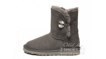 Угги женские Ugg Australia Bailey Button Bling Gray