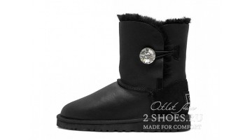 Угги женские Ugg Australia Bailey Button Bling Met Black