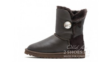 Угги женские Ugg Australia Bailey Button Bling Met Choc