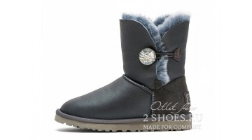 Угги женские Ugg Australia Bailey Button Bling Met Grey