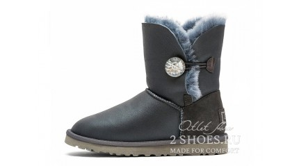 короткие с пуговицей Ugg Australia Bailey Button Short Bling Metallic Grey