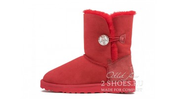 Угги женские Ugg Australia Bailey Button Bling Tomato