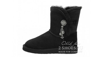 Угги женские Ugg Australia Bailey Button Briana Black