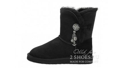 короткие с пуговицей Ugg Australia Bailey Button Short Briana Black