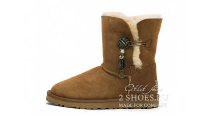 короткие с пуговицей Ugg Australia Bailey Button Short Briana Chestnut