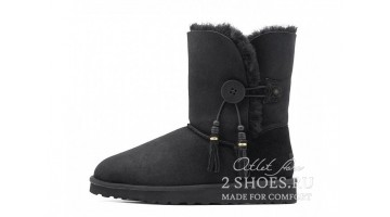 Угги женские Ugg Australia Bailey Button Charms Black