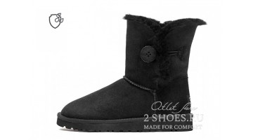 Угги женские Ugg Australia Bailey Button II Black