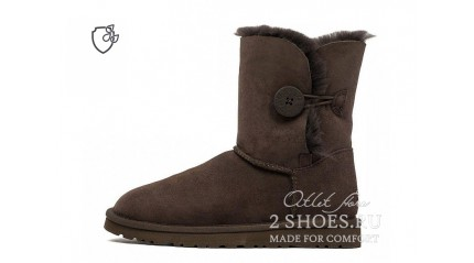 короткие с пуговицей Ugg Australia Bailey Button II Short Chocolate