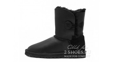 Угги женские Ugg Australia Bailey Button Met Black