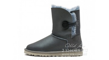 Угги женские Ugg Australia Bailey Button Met Gray