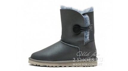 короткие с пуговицей Ugg Australia Bailey Button Short Metallic Gray