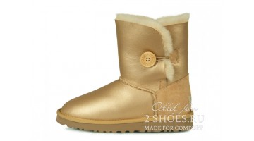 Угги женские Ugg Australia Bailey Button Met Soft Gold