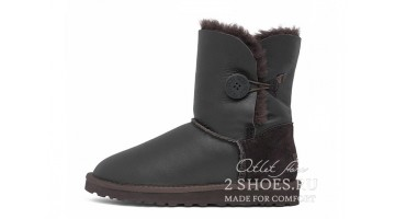 Угги женские Ugg Australia Bailey Button Met Chocolate