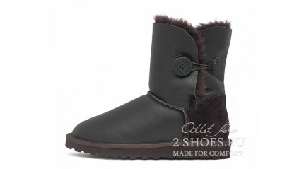 короткие с пуговицей Ugg Australia Bailey Button Short Metallic Chocolate