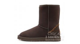 Короткие Ugg Australia Classic Short Deco Chocolate коричневые