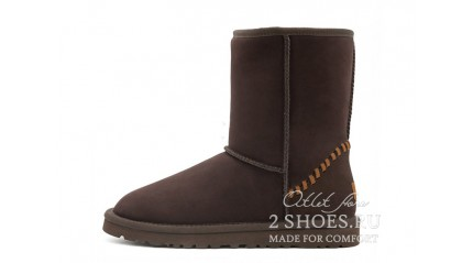короткие Ugg Australia Classic Short Deco Chocolate