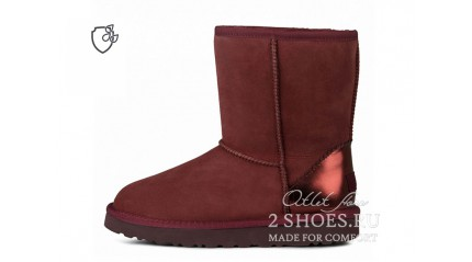 короткие Ugg Australia Classic Short II Metallic Port