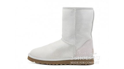 короткие Ugg Australia Classic Short Metallic I Do White