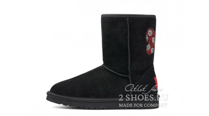 короткие Ugg Australia Classic Short Mickey Mouse Black