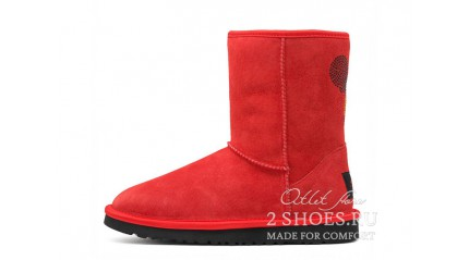 короткие Ugg Australia Classic Short Mickey Mouse Red