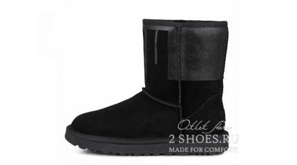 короткие Ugg Australia Classic Short Sparkle Boot Black